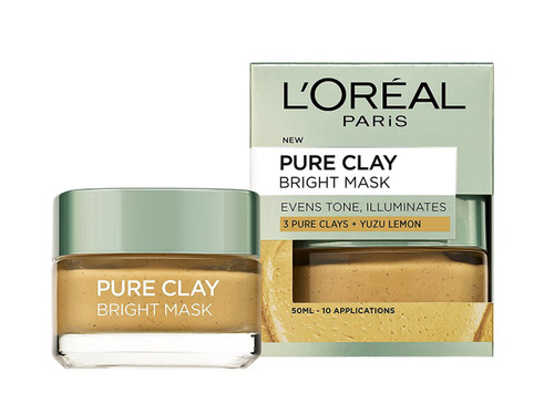 L'Oreal Paris Pure Clay Yuzu Lemon Mask - Brightening Yellow 50ml shop online in pakistan