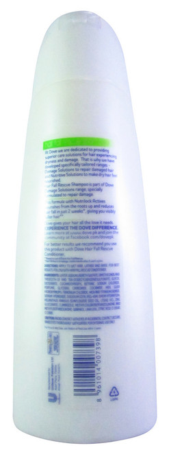 Dove Hair Therapy Hair Fall Rescue Shampoo (back)