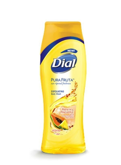 Dial Pura Fruta Papaya & Pineapple Exfoliating Body Wash 473 ML