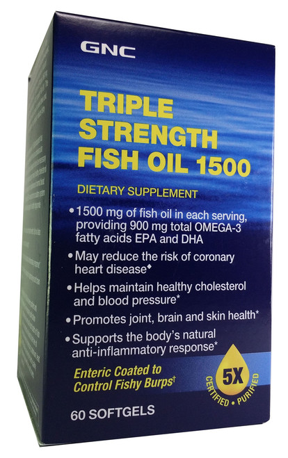 GNC Triple Strength Fish Oil 1500 (60 Softgels) Buy online in Pakistan
