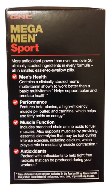 GNC Mega Men Sport 90 Caplets best price deal