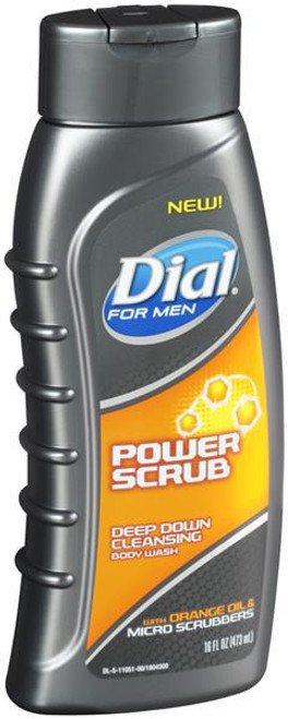 Dial For Men Body Wash Power Scrub 473 ML