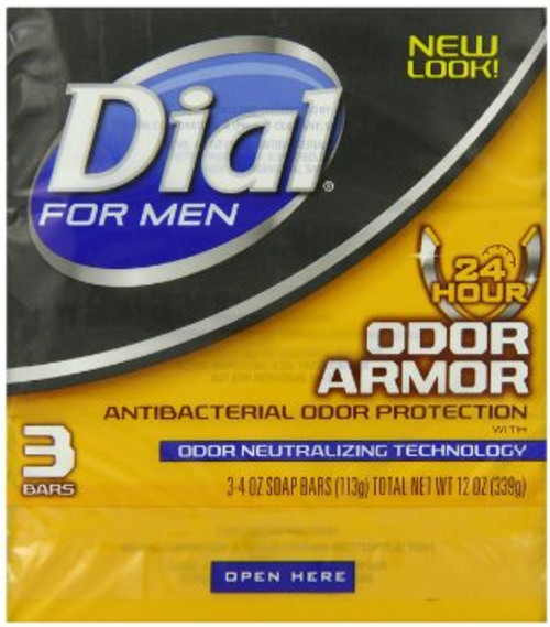 Dial For Men Odor Armor Bar Antibacterial Soap