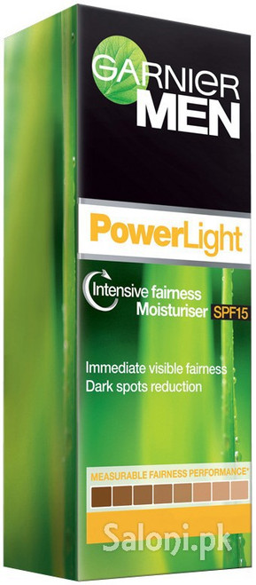 Garnier Men PowerLight Intensive Fairness Moisturiser SPF 15 (50 Grams)