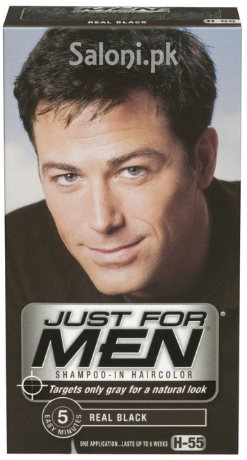Just For Men Shampoo-In Hair Color Real Black H-55
