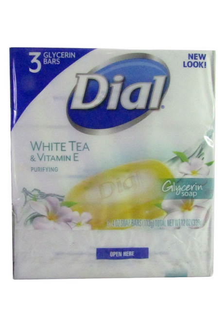 Dial White Tea & Vitamin E Bar Soap (Pack of 3)