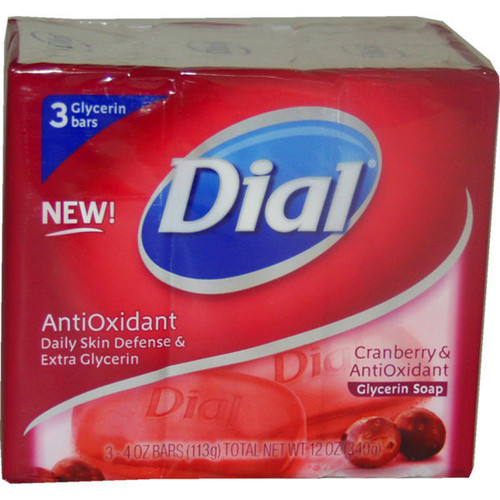 Dial Cranberry Anti Oxidant Bar Soap (Pack of 3)