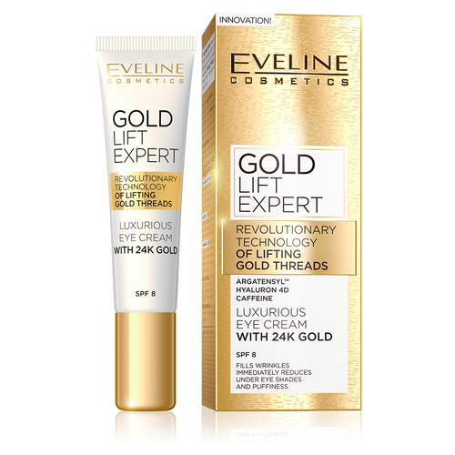 Eveline 24K Gold Lift Expert Luxurious Eye Cream 15 ML shop online eveline products genuine in pakistan