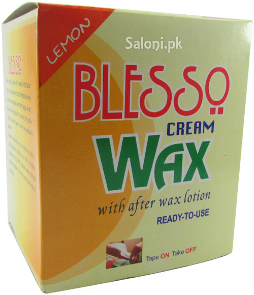 Blesso Cream Wax With After Wax Lotion (Lemon)