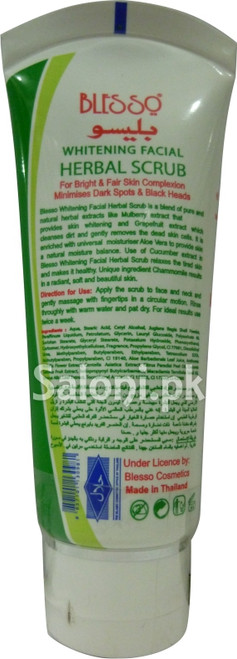 Blesso Whitening Facial Herbal Scrub