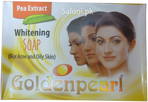 Golden Pearl Pea Extract Whitening Soap For Acne and Oily Skin Front