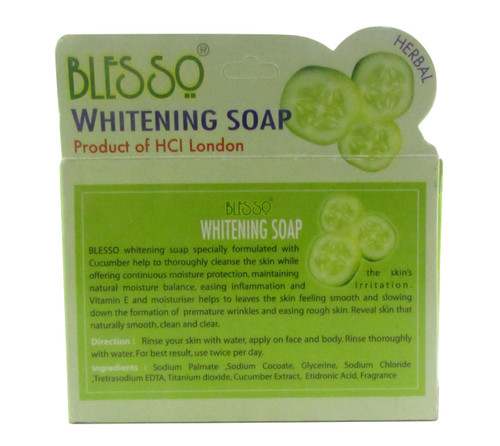 Blesso Whitening Soap with Cucumber and Herbal Extract  original product