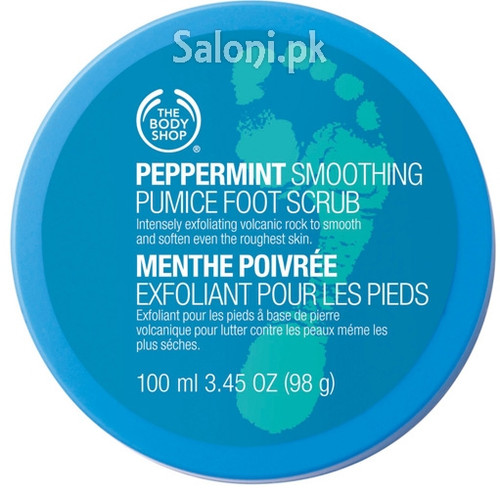 he Body Shop Peppermint Smoothing Pumice Foot Scrub