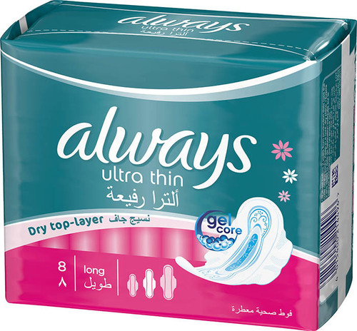 Always Pads Ultra Thin Long 8