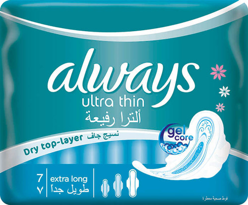 Always Pads Ultra Thin Extra Long 7 shop online in pakistan