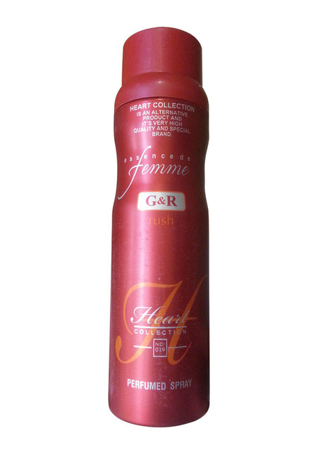 Heart Collection Essencede Femme G&R Rush Perfumed Spray 200 ML