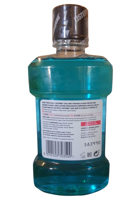 Listerine Cool Mint Mouth Wash Back