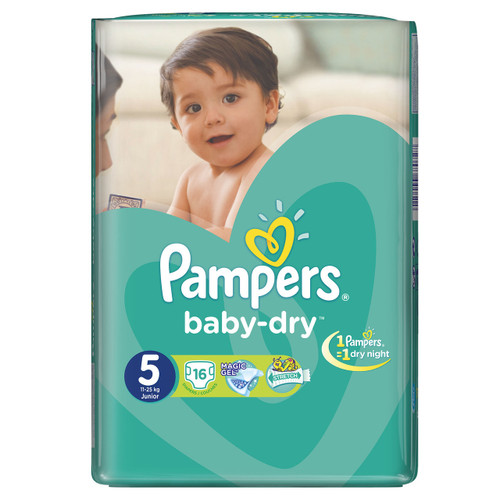 Pampers Baby-Dry Value Pack [Size 5/Junior/11-25 kgs, 16 Diapers) Shop online in Pakistan best price original product