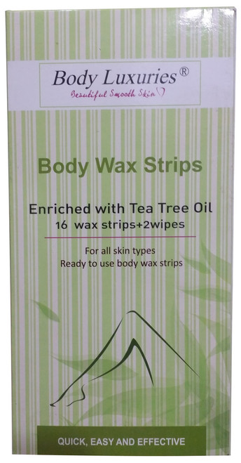 Body Luxuries Body Wax Enriched With Tea Tree Oil 16 Wax Strips + 2 Wipes Buy Online In Pakistan