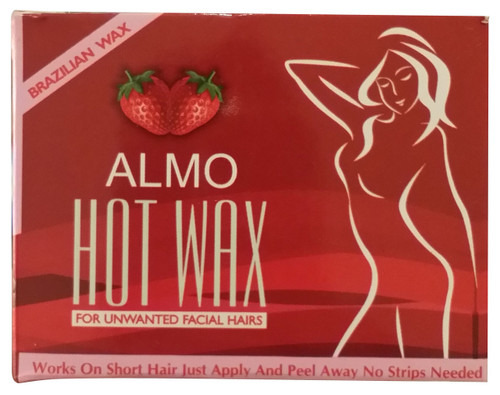 Almo Hot Wax For Unwanted Hair Strawberry front