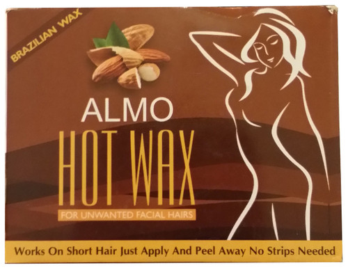 Almo Hot Wax For Unwanted Hair Almond FRONT