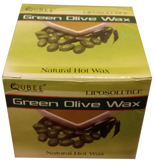 Qubee Liposoluble Hot Wax Green Olives 6 Refills Best Price