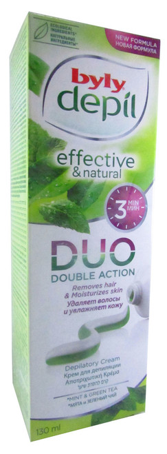 Byly Depil Hair Removing Cream Tube Duo Double Action Mint & Green Tea Buy online in Pakistan