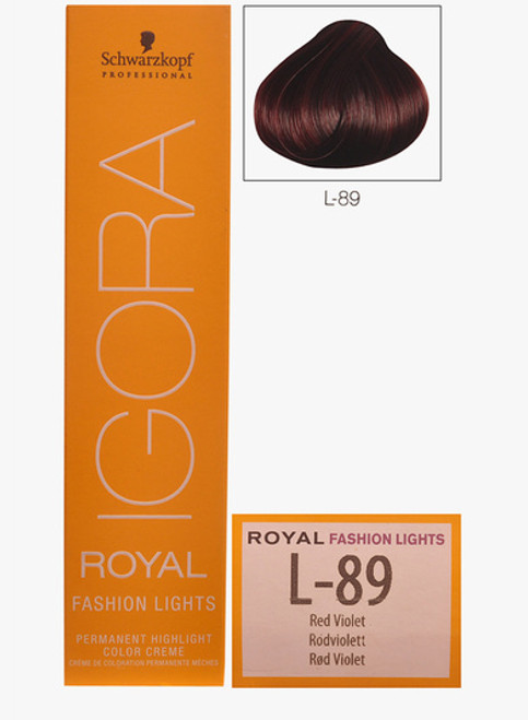 Schwarzkopf Igora Royal Fashion Light Hair Colour Red Violet L-89