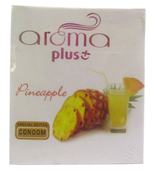 Aroma Plus Pineapple Special Dotted Condom Buy online in Pakistan