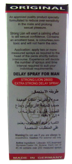 Original Strong Lion Power 28000 Long Time Delay Spray best price