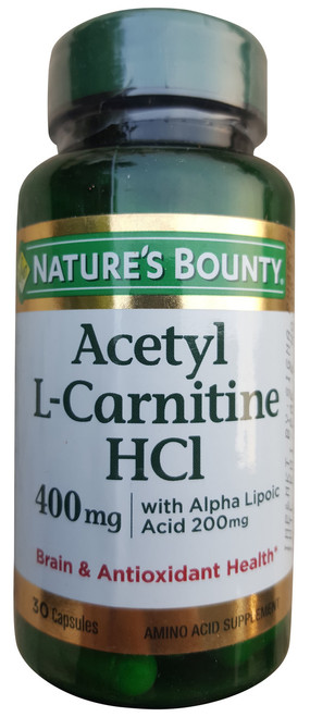 Nature's Bounty Acetyl L-Carnitine HCl 400mg Buy online in Pakistan best price original product