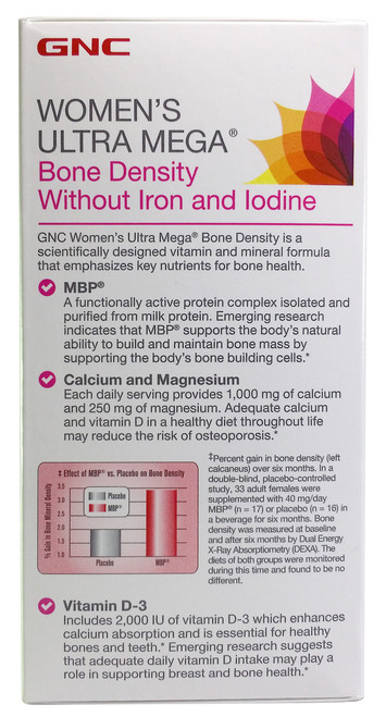 GNC Women's Ultra Mega® Bone Density best price original product