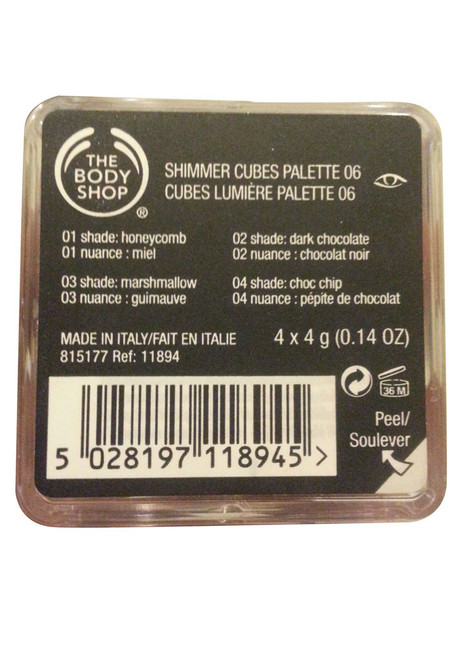 The Body Shop Shimmer Cubes Chocolate/Brown  Original Product
