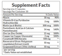 Nature's Bounty Keratin Formula Healthy Hair (60 Capsules) supplement facts