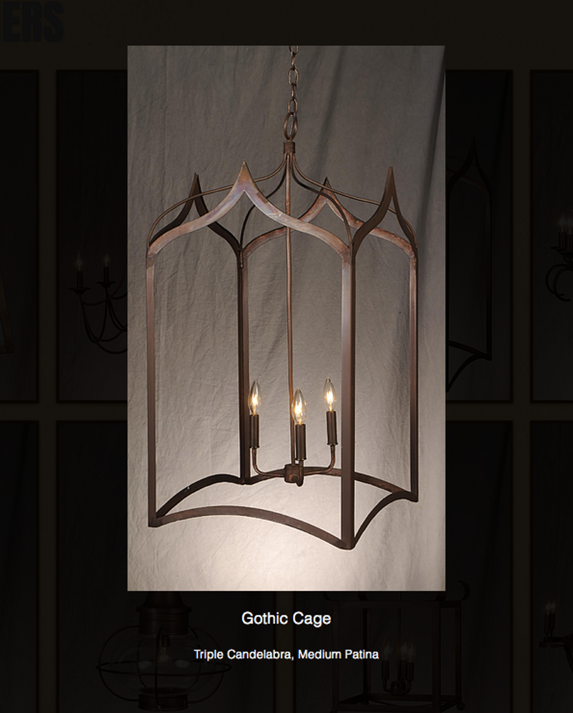 St. James Gothic Cage Copper Chandelier & Discount St. James Gothic Cage Chandelier Free Shipping