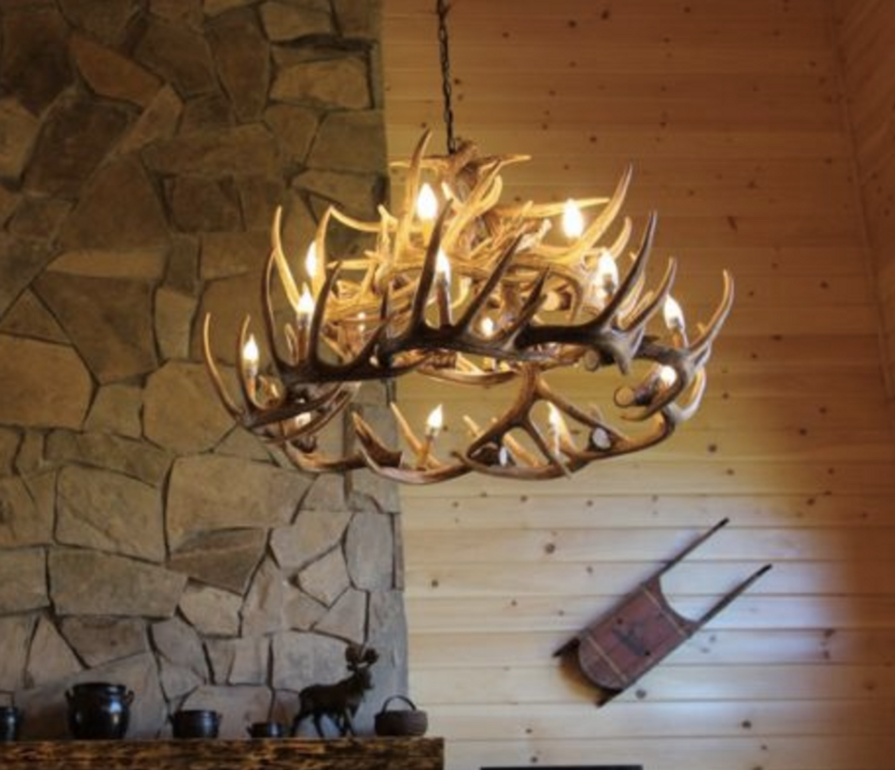 river drive faux antler chandelier free shipping