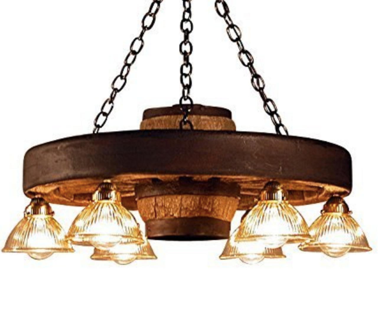 Wagon Wheel Chandelier 30 W X