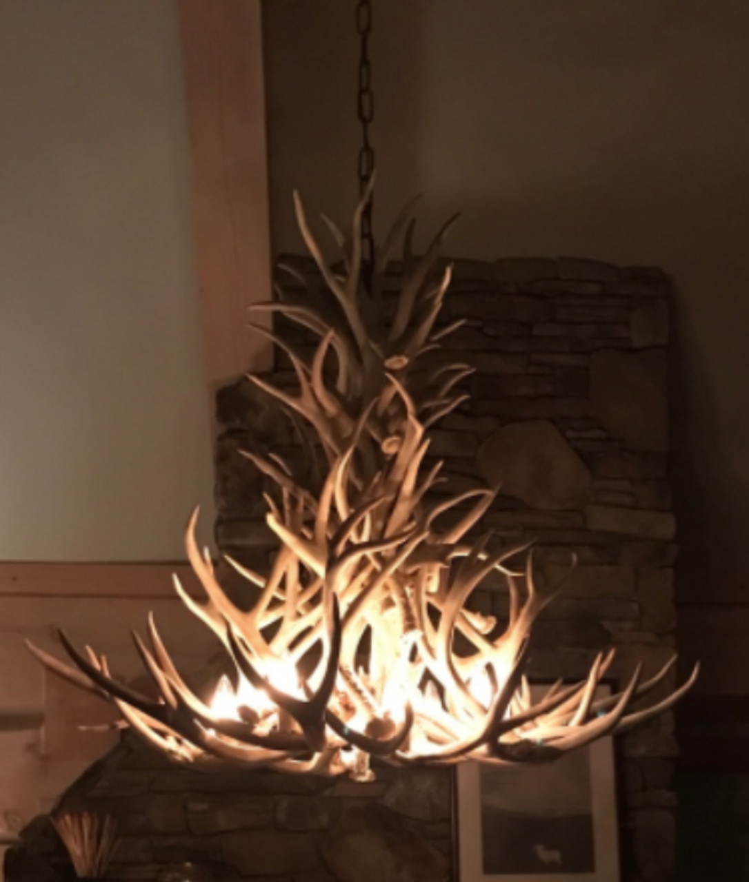 New mexico deer antler chandelier free shipping new mexico deer antler chandelier aloadofball Image collections