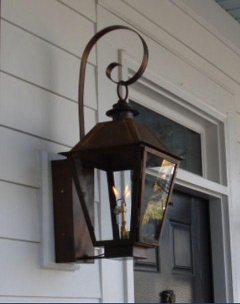 St. James Magnolia Copper Lantern