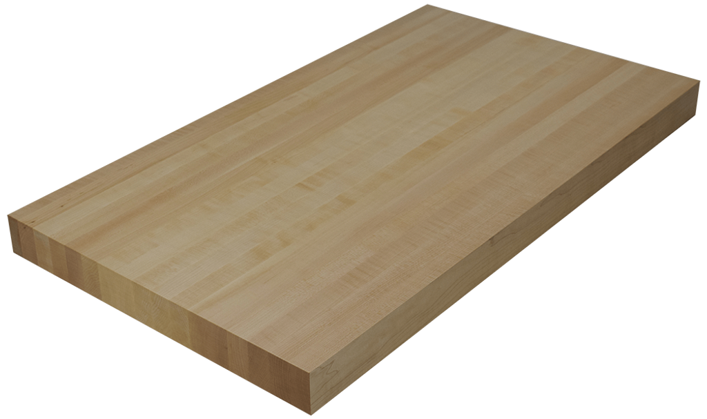 Maple edge grain butcher block countertop hardwood