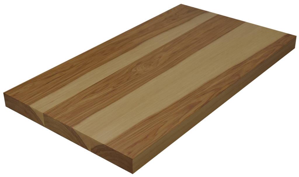 Hickory Wide Plank (Face Grain) Countertop