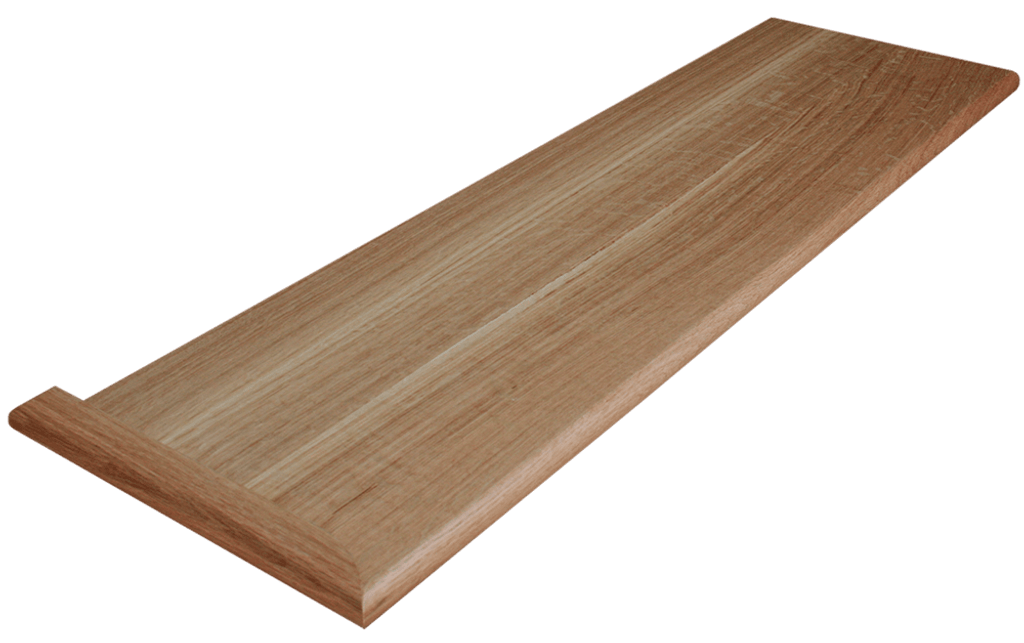Quarter Sawn White Oak Stair Tread