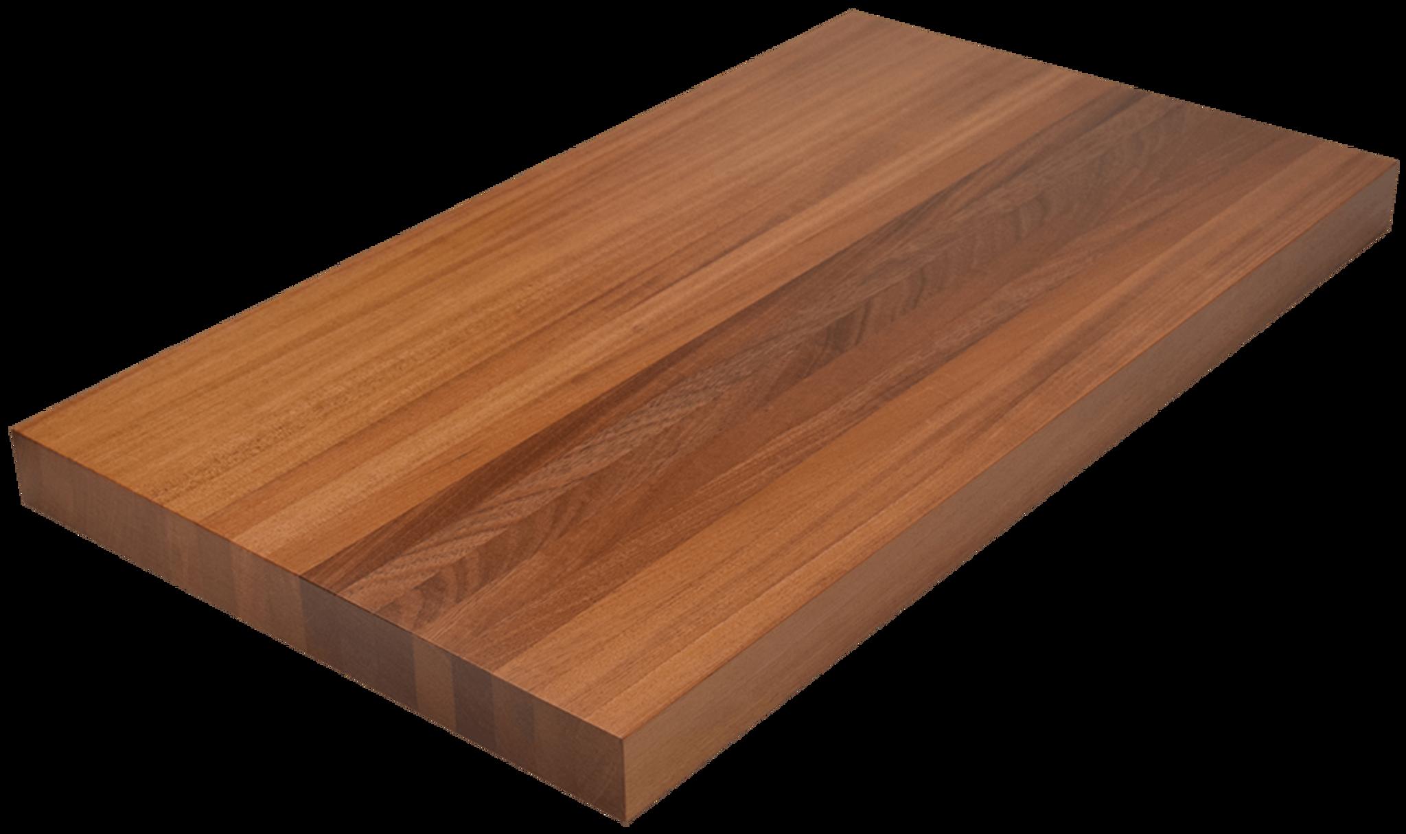 African mahogany edge grain butcher block countertop