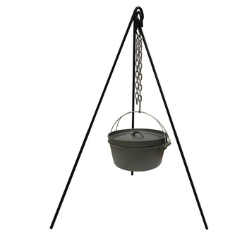 Stansport 15997 Stansport Cast Iron Cooking Tripod with S Hook