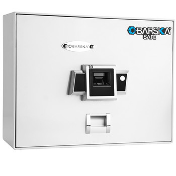 Barska AX12402 Barska BX200 Top Opening Biometric Security Safe-White