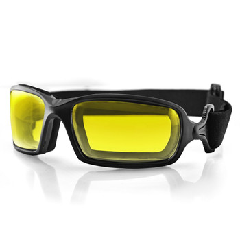 Bobster BFUE001Y Bobster Fuel Biker Goggle-Anti-fog Yellow Photochromic Lens