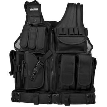 Barska BI12154 Barska Loaded Gear VX-200 Tactical Vest-Left Hand-Black