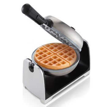 Oster CKSTWFBF22-ECO Oster DuraCeramic Flip Waffle Maker- Silver Stainless Steel