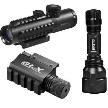 Barska DA12190 Barks 4x30 IR Electro Sight-Grn Laser/210 Lum LED Flashlight