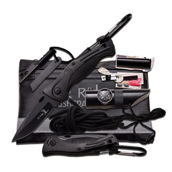 Master Cutlery ER-PK4B Elk Ridge Black Survival Kit 6.75In. X 4.25In.